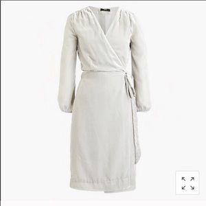 NWT Silver JCREW Velvet Wrap Dress